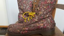 Dr Martens floral Page low boots. Size 5