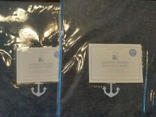 S2 Pottery Barn Kids ~ Anchor Printed Blackout Panel 44� X 84� ~ Navy
