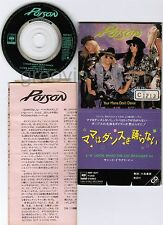 "POISON Your Mama Don't Dance JAPAN 3""CD 10EP3071 w/INSERT Ex-Rental FREE S&H/P&P"