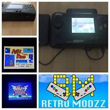Sega Genesis Nomad Black Handheld TFT LCD Region Free Glass Screen SMS Micro USB