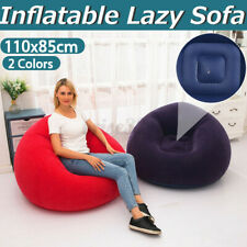 Dorm Chair Beanless Bean Bag Lounge Inflatable Seat Gaming Room Big Lounger