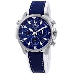 Bulova Marine Star Chronograph Blue Dial Men's Watch 96B287