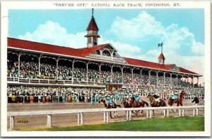 Covington, Kentucky Postcard LATONIA RACE TRACK Horse Racing c1930s Unused