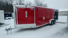 2018 7x27 All Aluminum 3 Place Enclosed Snowmobile Trailer