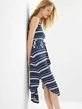 NWT Gap Stripe wrap-belt midi dress, Multi Stripe SIZE XS         #788587 v617