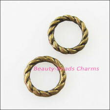 80 New Charms Round Circle Spacer Beads 8mm Antiqued Bronze Tone