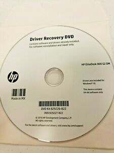 Genuine HP EliteDesk 800 G2 Windows 10 Driver Recovery DVD 829226-B22