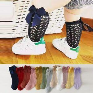 0-7 Years Vintage Breathable Fishnet Kids Socks Girl Cotton High Socks Lace Fish