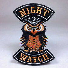 Hallows Eve Halloween Biker Patch: Night Watch - Owl Bat Witch Ghost Pumpkin