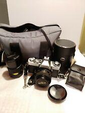 Minolta Xd-5 Slr 35mm Film Camera With Accessories