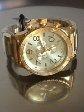 Brand NEW Nixon Watch 51-30 CHRONO All Gold A083-502