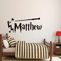 Wall Stickers Harry Potter wand custom name colour vinyl decal decor Nursery