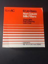 "kenAG 6.5"" disks non gauze milk filters"