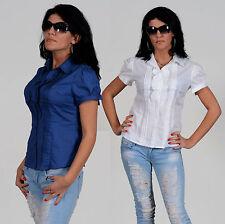 Kurzarm Damenblusen, - tops & -shirts für Party-Blusen im taillenlange