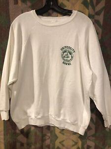 Vintage 70's Cotton Blend University Of Hawaii Crew neck Sweatshirt Size L*