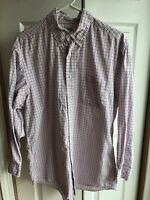 Men's Brooks Brothers Pink Plaid Button Down Dress Shirt Long Sleeve Size 16 - 3