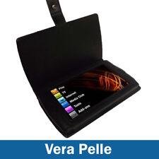 Nero Vera Pelle Custodia per Archos 7 Android Home Tablet 8GB Case Cover