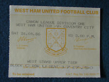 West Ham United v Coventry City - 26/4/86 - Ticket
