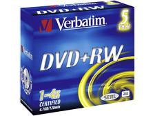 Disco DVD+RW - Verbatim, 43229 DVD+RW 4 X-ADVANCED-SERL 4.7 GB 4X-JC 5