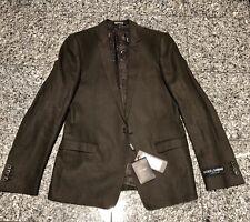 Dolce & Gabbana D&G Brown Linen Flax Men's Pant Suit