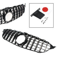 GT R Front Grill Silver For Mercedes-Benz W205 C-Class C200 C250 C300 C350 2019