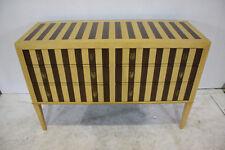 "New York wood strip 56"" dresser with 6 drawers"