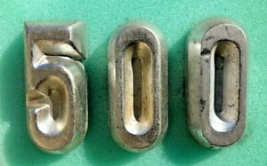 Vintage 1959 Ford Fairlane 500 Galaxie lower back panel Trunk numerals 3 numbers