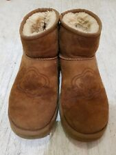 Limited Edition Flower Uggs Boots Size 5.5 Beige Good Condition