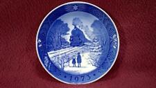 Royal Copenhagen Plate - 1973 Going Home For Christmas - Vg Condition