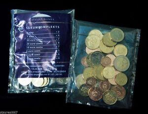 Latvia 2014 EURO COINS START PACKET KIT 1,2,5,10,20,50 Eurocent to 1 & 2 Euro