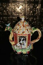 UNUSED Fitz & Floyd COUNTRY CHIC Teapot ~ Charming!