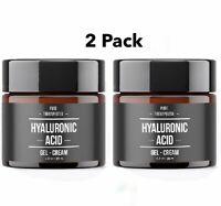 2 Pack Hyaluronic Acid Gel Cream Anti-Aging Wrinkle Face & Eye Serum Moisturizer