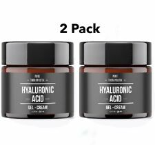 2 Pack Hyaluronic Acid Gel Cream Anti-Aging Wrinkle Face & Eye Serum Moisturizer