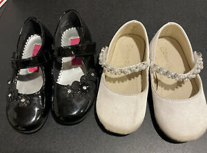 Lot Of 2: Toddle Girl Size 7 Dress Shoes