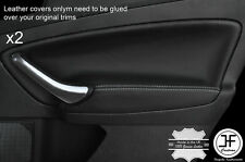 GREY STITCH 2X REAR DOOR CARD TRIM LEATHER COVERS FITS FORD MONDEO MK4 07-13