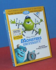 Disney/Pixar Monster's University (3D Blu-ray + Blu-ray, 2013, 3-Disc Set)