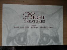 Singapore 31 Mar 2004 Night Creatures Specially Designed Prints with stamps