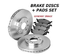 FOR FORD KA 1.2i FRONT BRAKE DISC DISC and PAD PADS SET 2008- 08 ON 1.2 PETROL