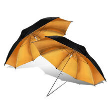 "Cowboystudio 2 x 40"" Black & Gold Reflective Lighting Umbrella, free Shipping"