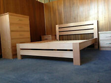 manly tassie oak hardwood timber local made queen bedroom suite.