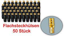 Flachsteckhülsen Flachstecker Lautsprecher 2,8mm vergoldet isoliert 50 Stück