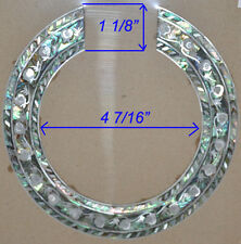 RS9# Rosette Inlay White Mother of Pearl and Paua Abalone 1.5mm thick for Guitar