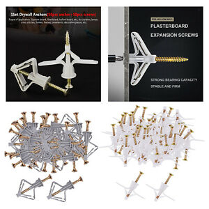 Drywall Anchor Kit for Drawall Plastic Hollow Board Curtains Lamps Frames