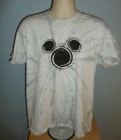 Disney Mickey Mouse Silhouette Gray Tie Dye T-Shirt Large L