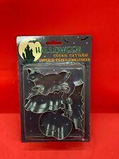 Fox Run Cookie Cutter Set of 4 stainless steel Halloween bat witch owl pumpkin