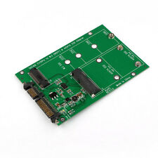 2 in 1 Mini PCI-E 2 Lane M.2 And mSATA SSD To SATA III 7+15 Pin Adapter A4X2