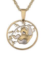 "Panda Bear Pendant & Necklace. Chinese Coin Hand cut - 5/8"" diameter ( # 62 )"