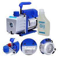 1/3HP 4CFM Rotary Vane Deep Vacuum Pump AC Air Conditioning Tool R410a R134 HVAC