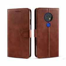 Wallet Case For Nokia 6.2/Nokia 7.2 Screen Protector Leather Flip Cover PU Brown