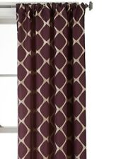 $90 Studio JCP Home Twist Rod Pocket Back-Tab Window Curtain Panel 50 X 108 Plum